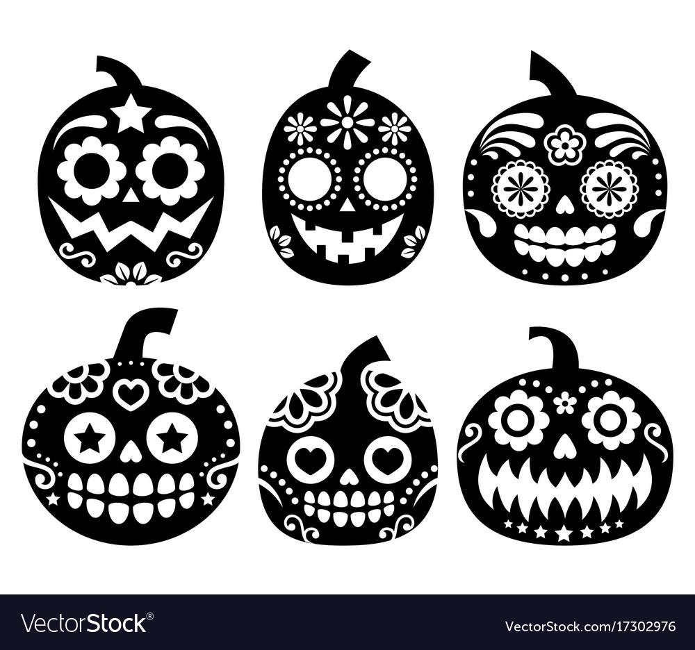 Halloween pumpkin desgin - sugar skull