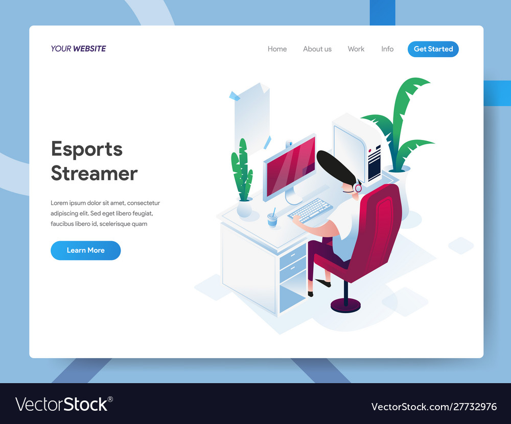 Landing page template esports streamer