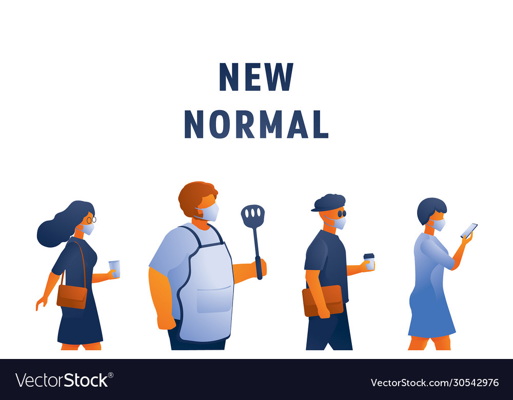 New Normal Lifestyle With Mask Royalty Free Vector Image