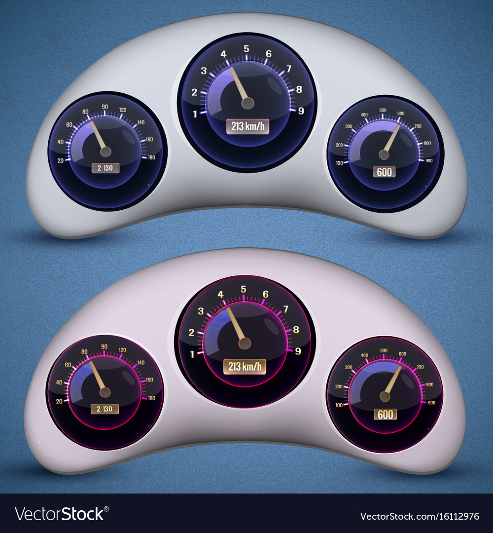 Speedometer interface icon set