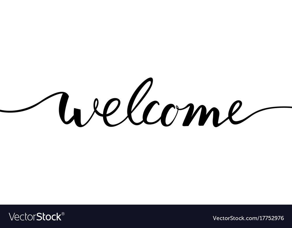 welcome lettering text royalty free vector image