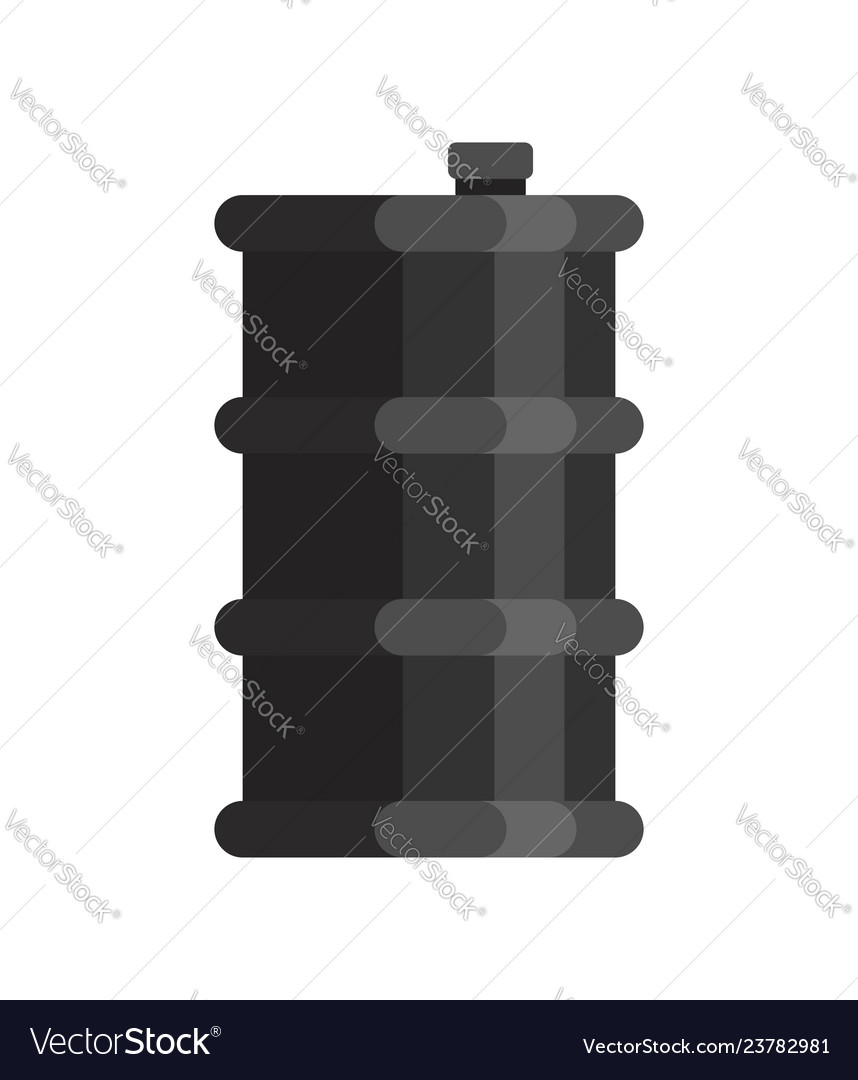 Barrel oil isolated black keg petroleum white