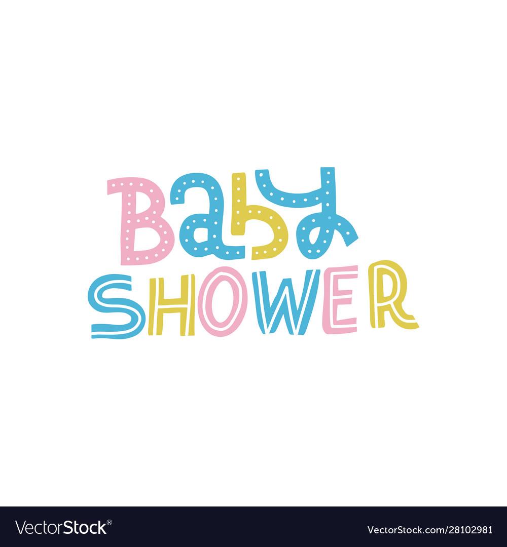 Bashower nursery print for invitation kids