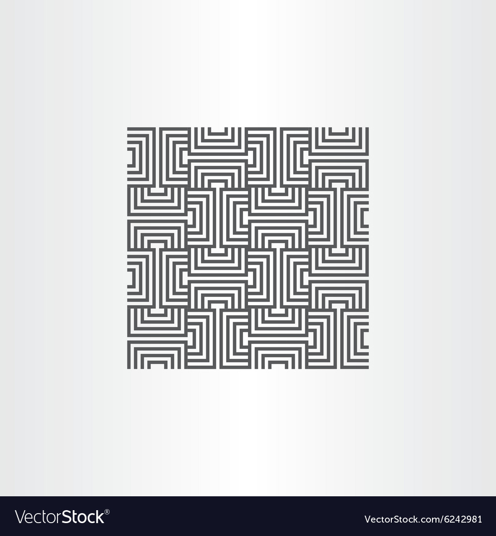 Black seamless pattern line background element