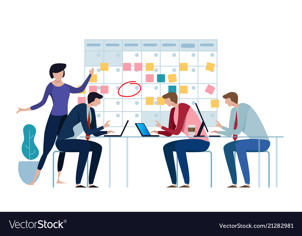 Company business team working together planning