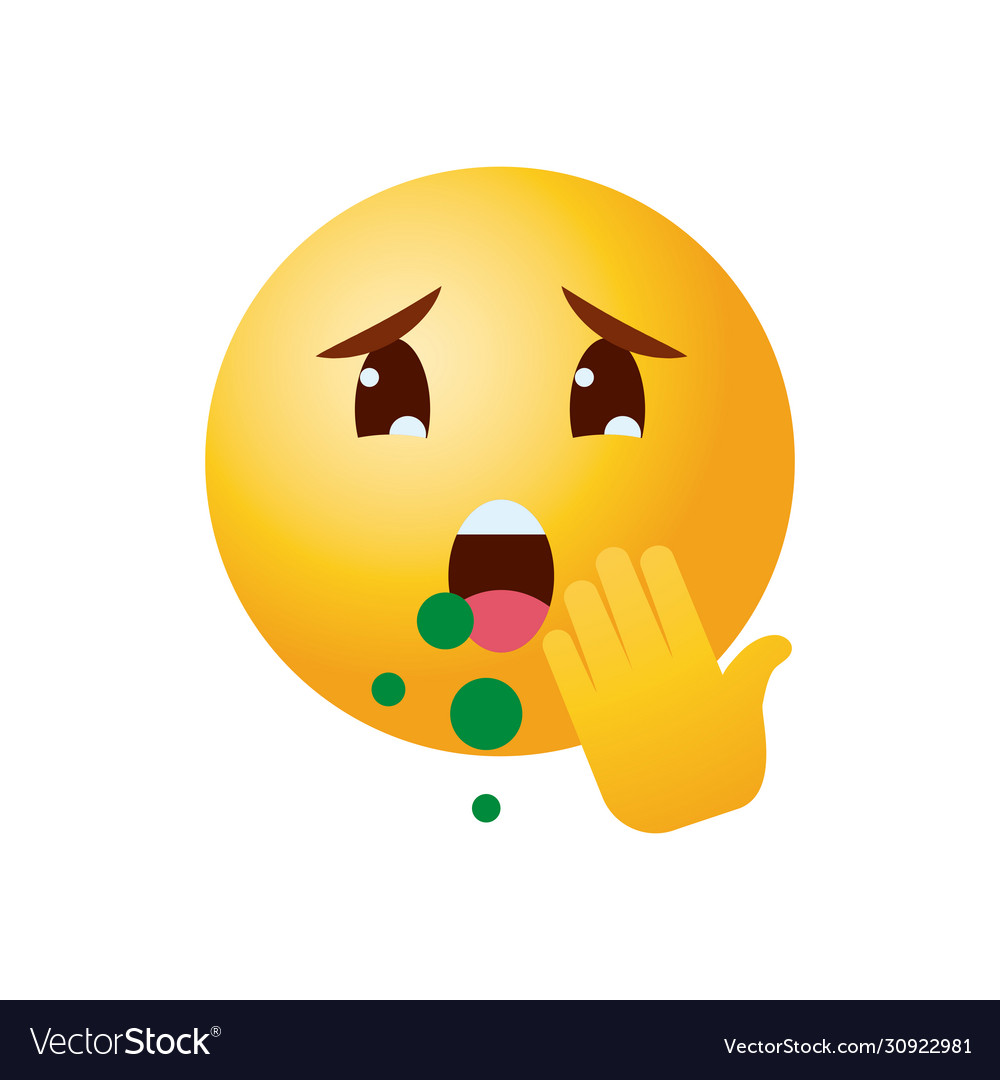 emoji coronavirus concept sick emoji coughing vector image vectorstock