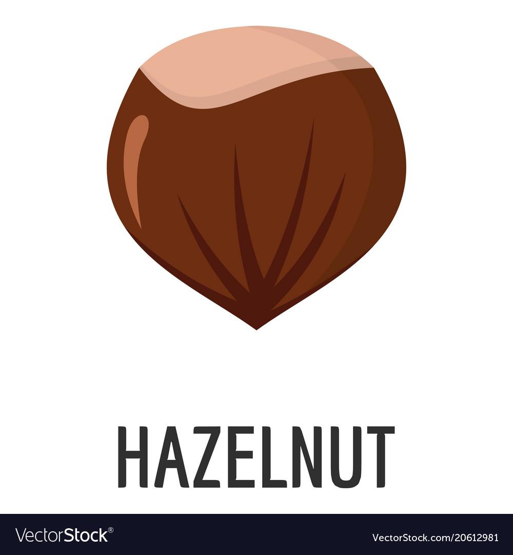 Hazelnut icon flat style vector image