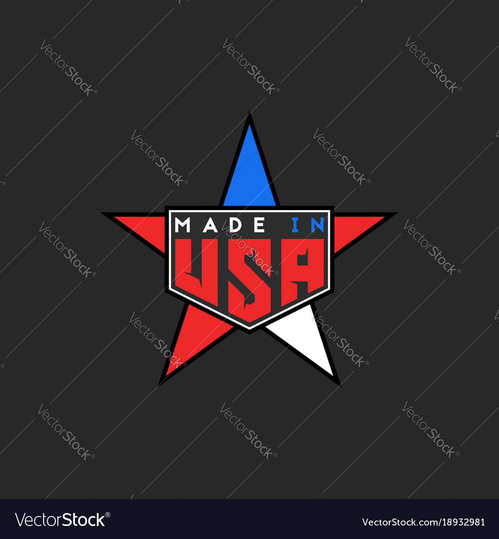 Made in usa logo in form star united states of