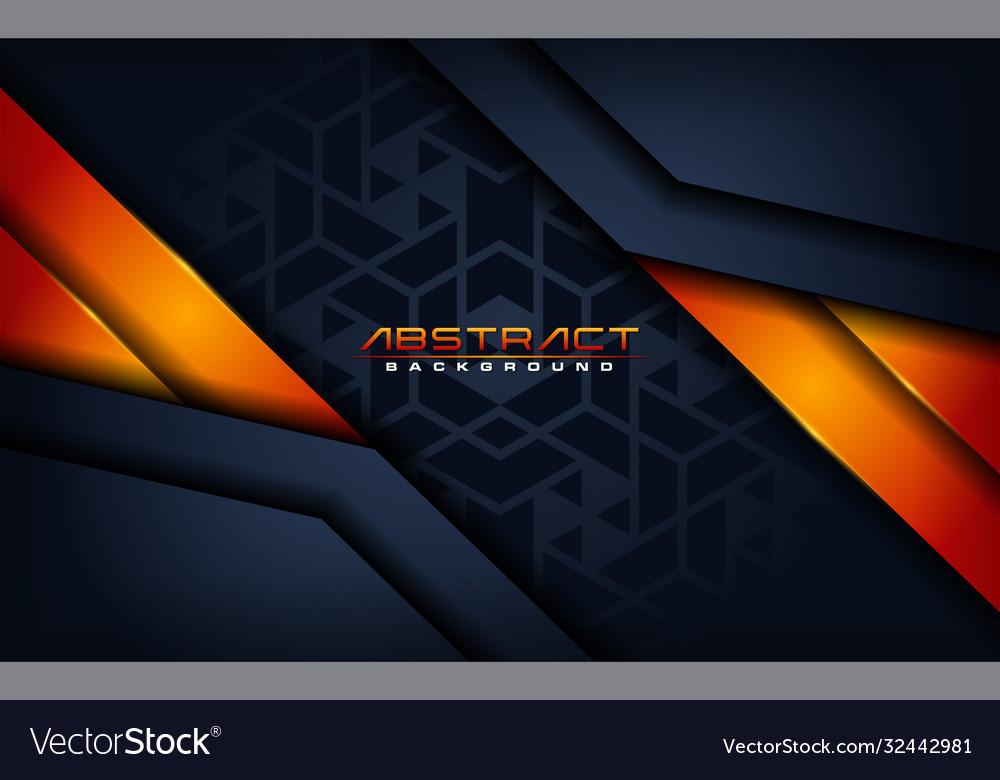 Modern dark navy with futuristic orange lines