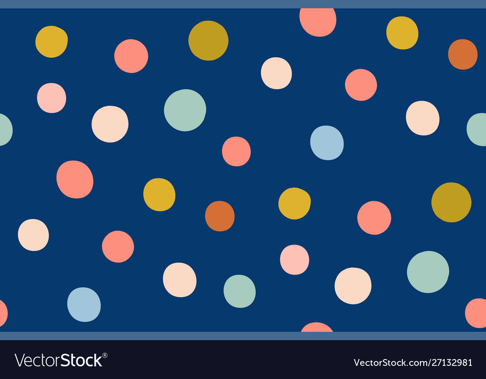 Multi-colored circles on a blue background