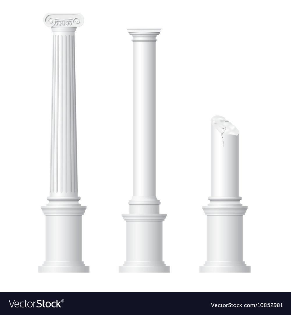 Realistic antique columns