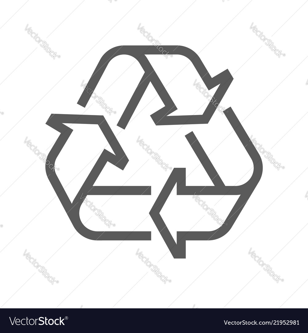 Recycling line icon