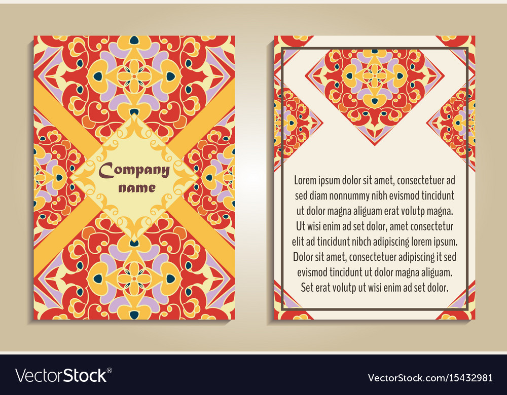 set of colorful brochure templates royalty free vector image
