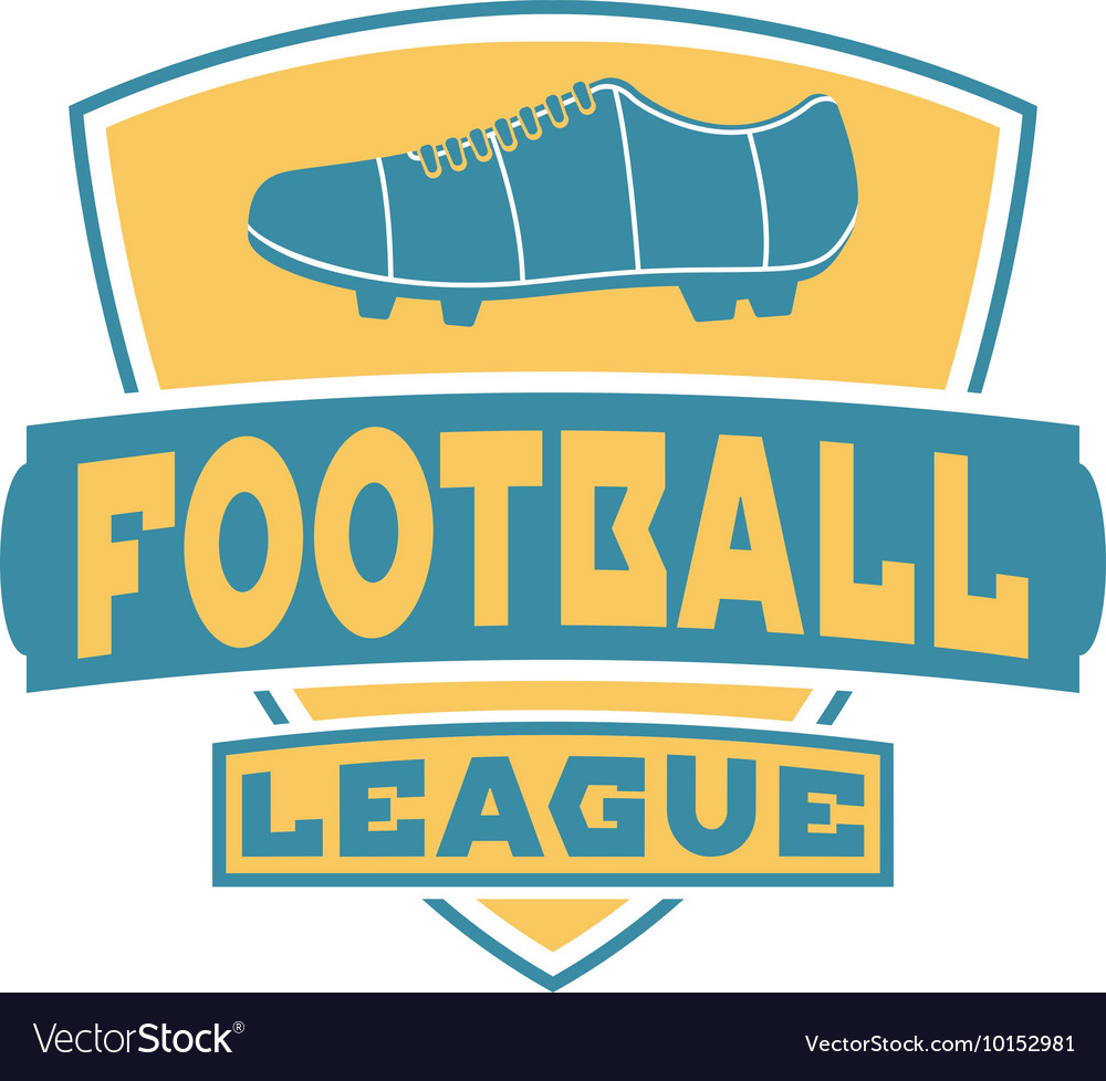 Soccer sign logo badge