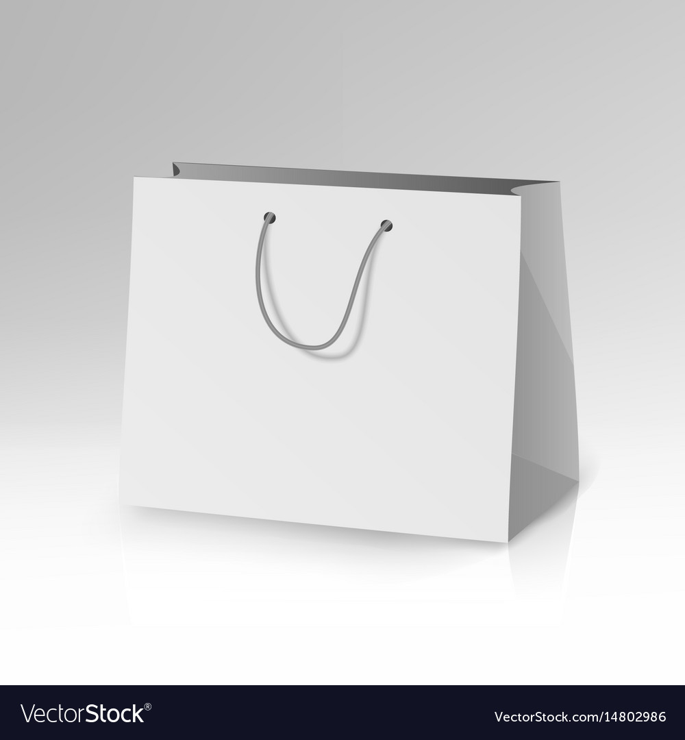 blank paper bag template 3d realistic royalty free vector