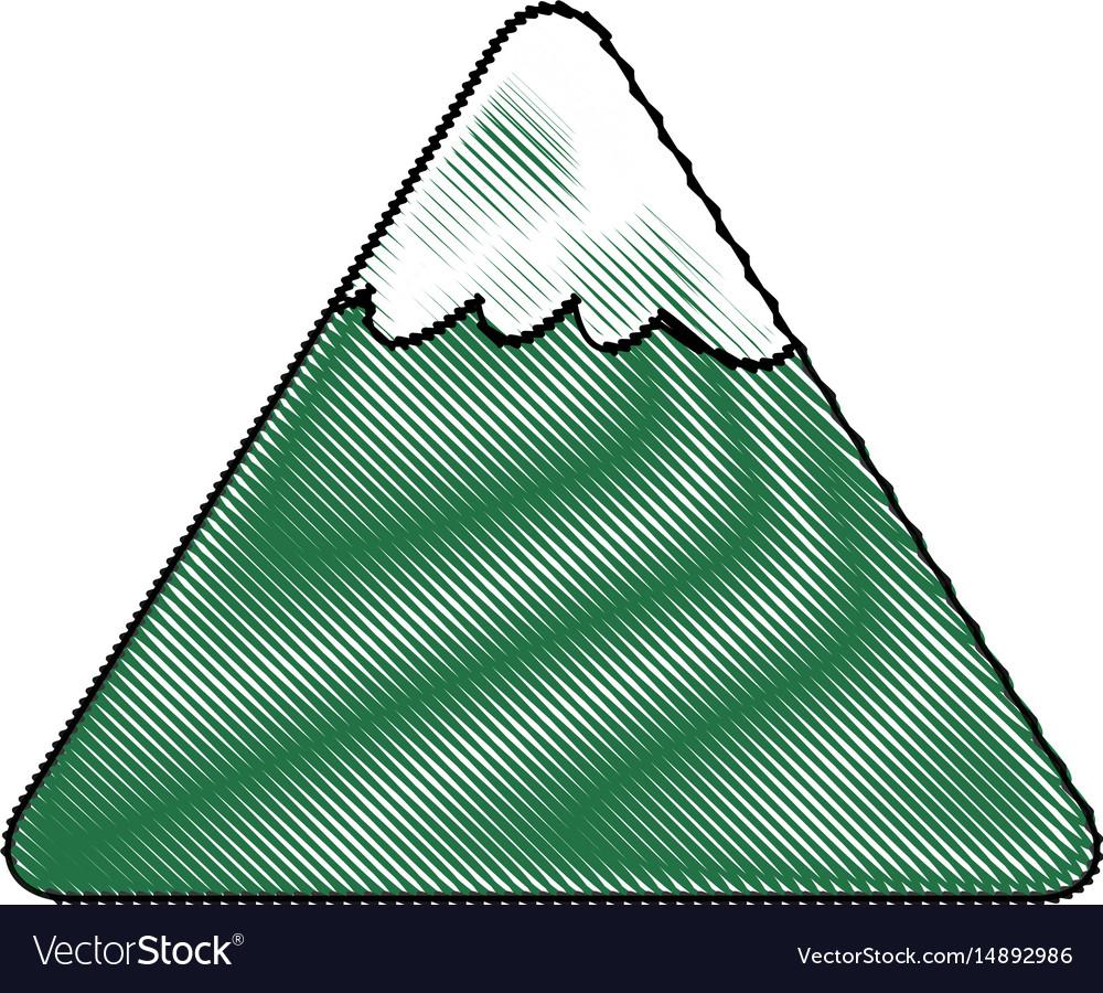Cartoon mountain snow nature landscape comic