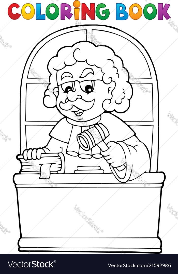 Coloring book judge theme 1