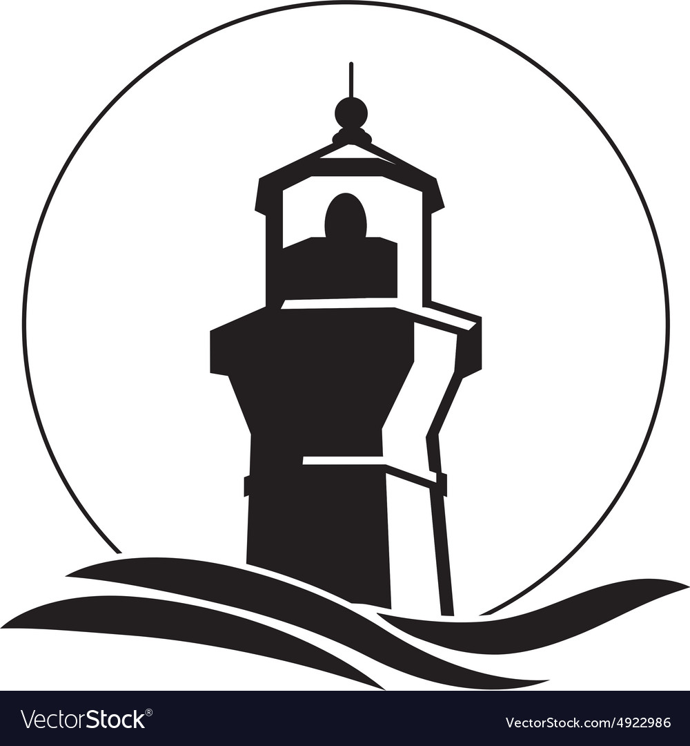 lighthouse logo royalty free vector image vectorstock rh vectorstock com Lighthouse Clip Art Lighthouse Silhouette Clip Art