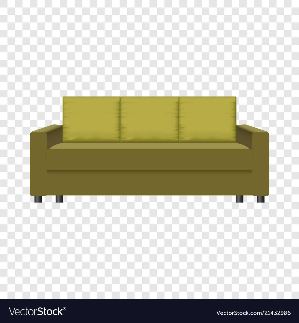 Exquisit Retrosofa Beste Wahl Retro Sofa Mockup Realistic Style Vector Image