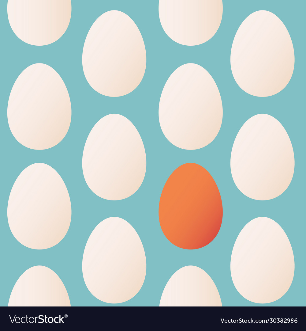 Seamless pattern trendy colors for easter with egg