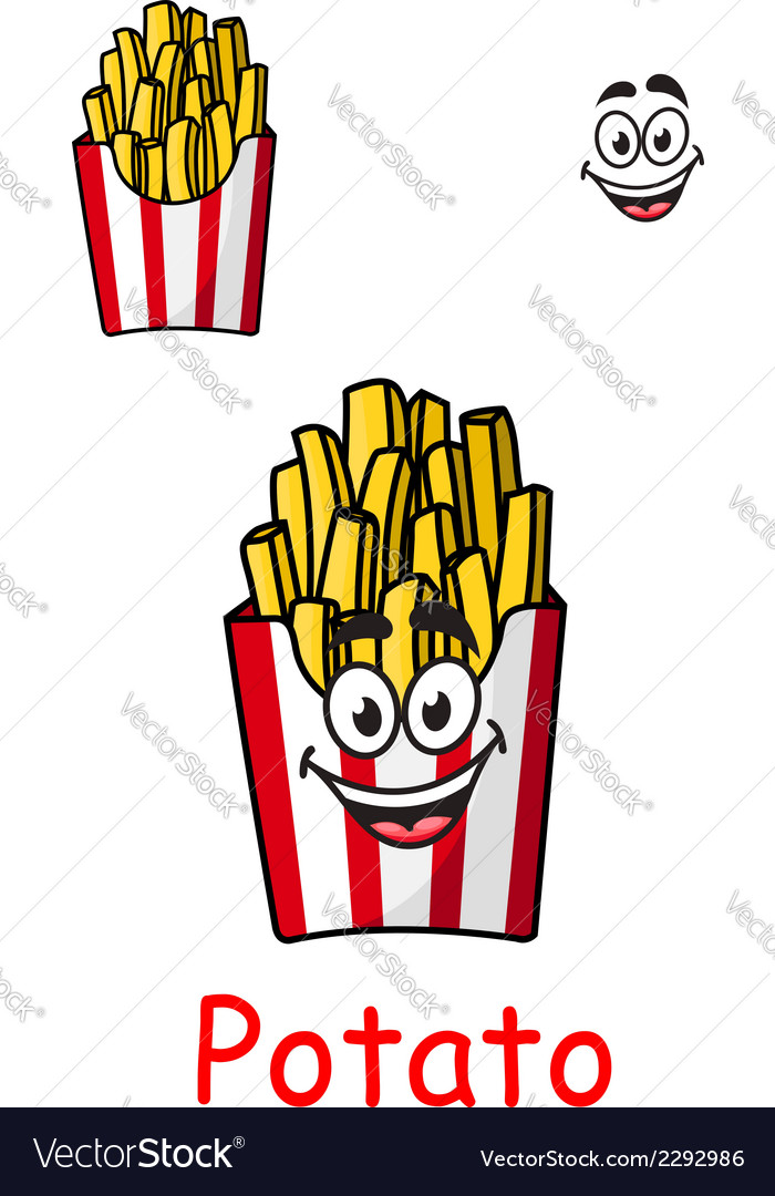 Takeaway box of fried potato chips vector image