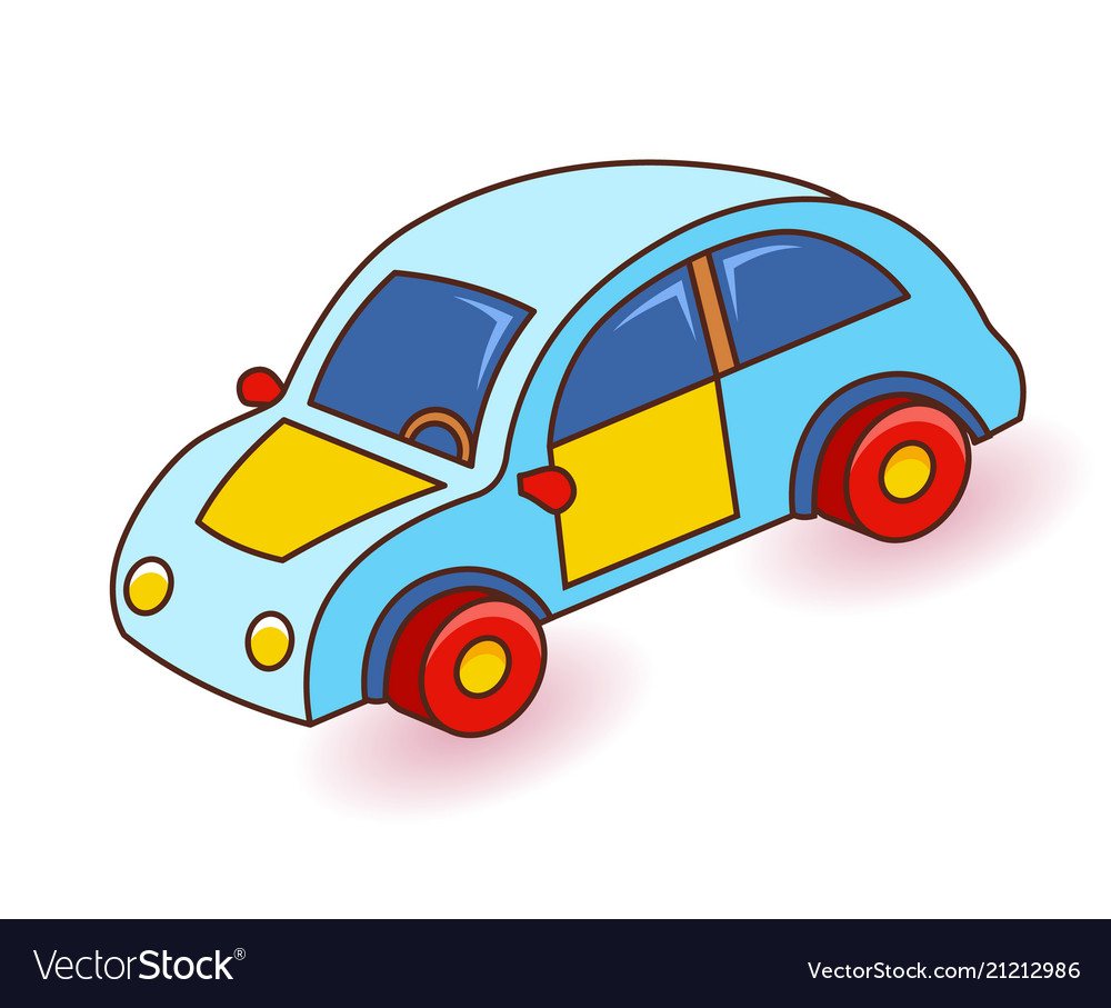 Toy Car Cartoon Royalty Free Vector Image Vectorstock