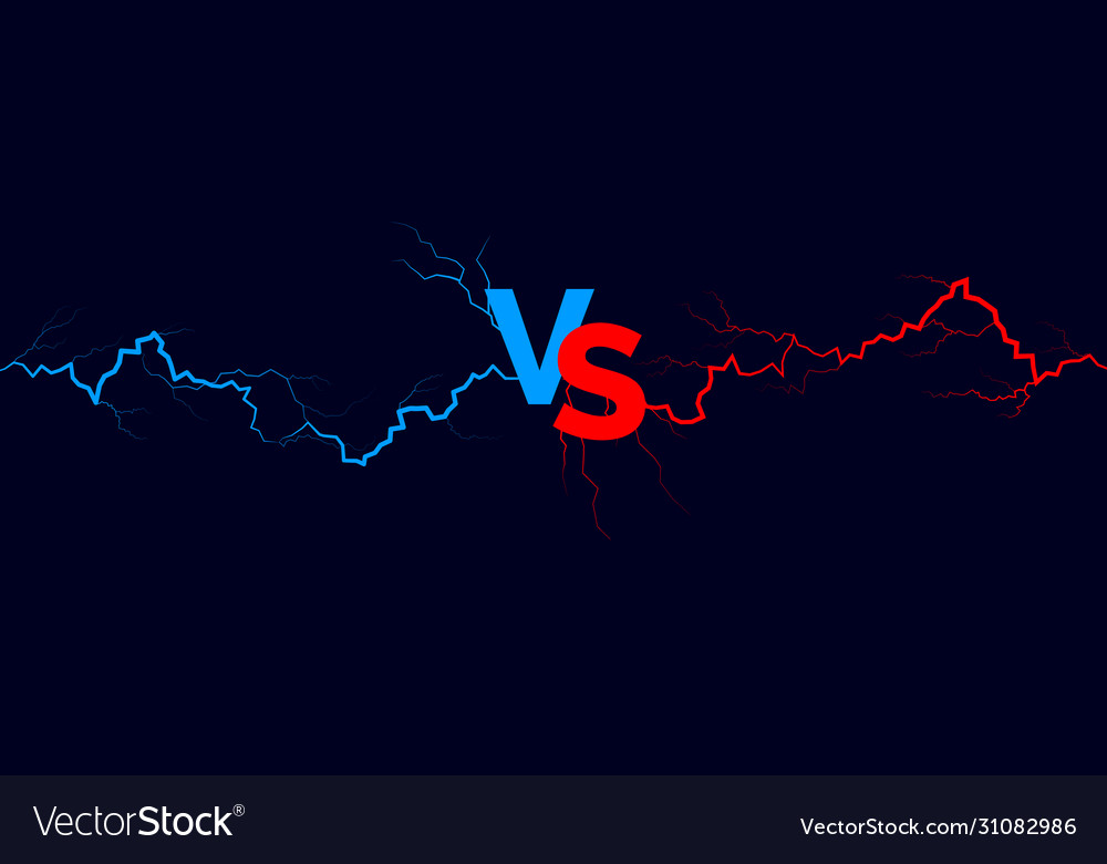 Versus background blue and red forces lights
