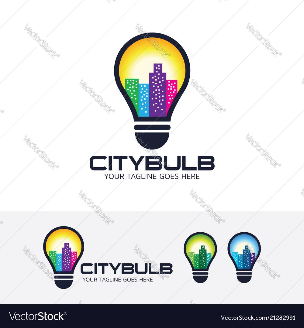 City bulb logo design