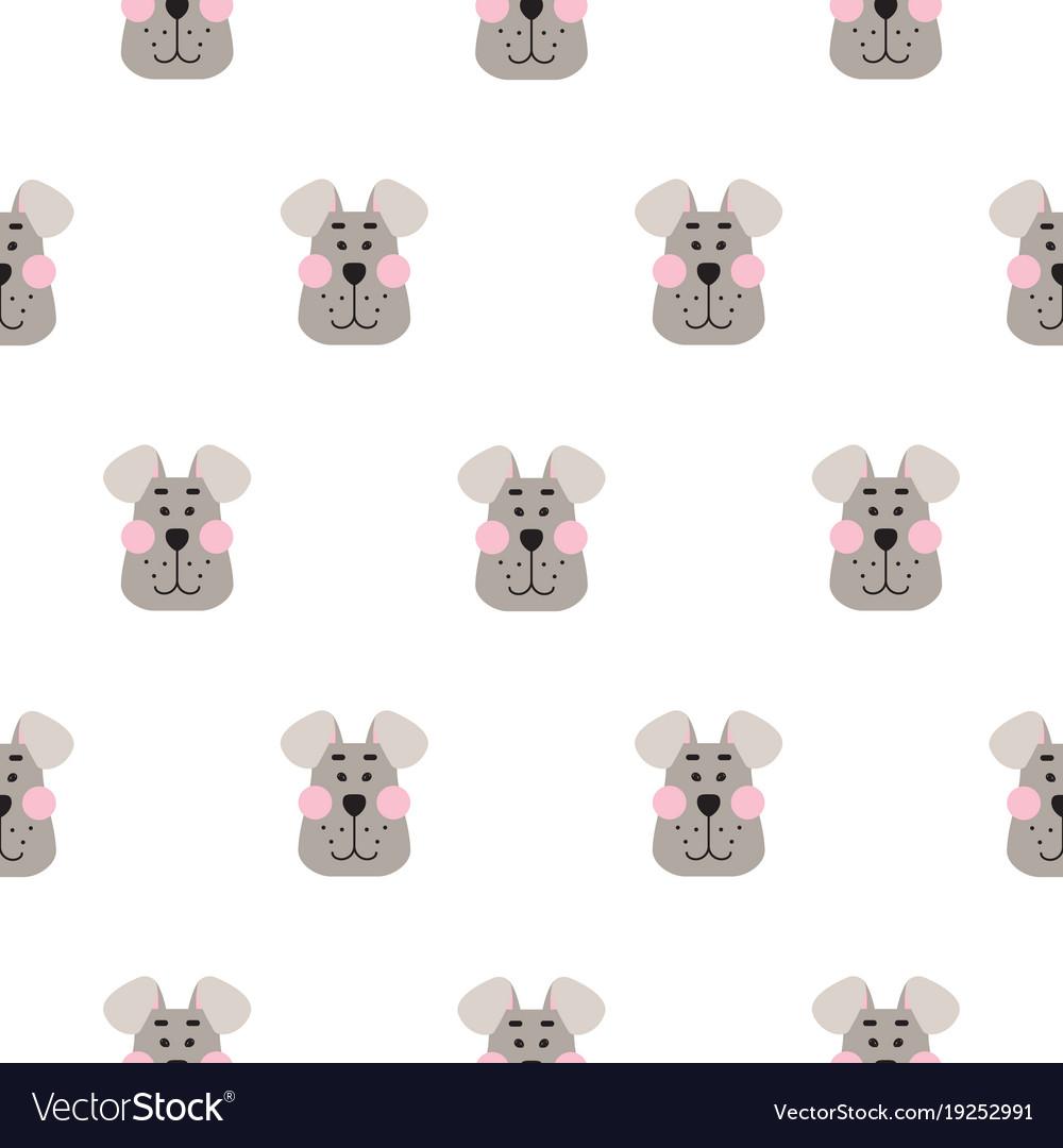 Cute dog seamless pattern cartoon design