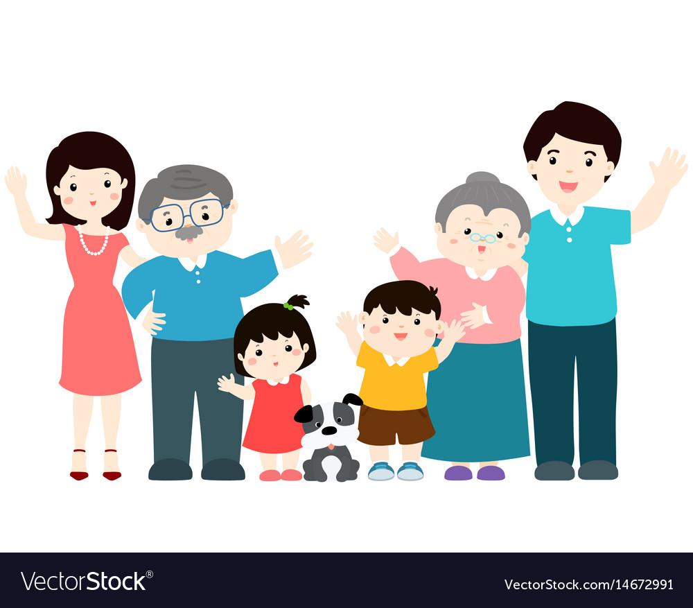 Family cartoon character xa