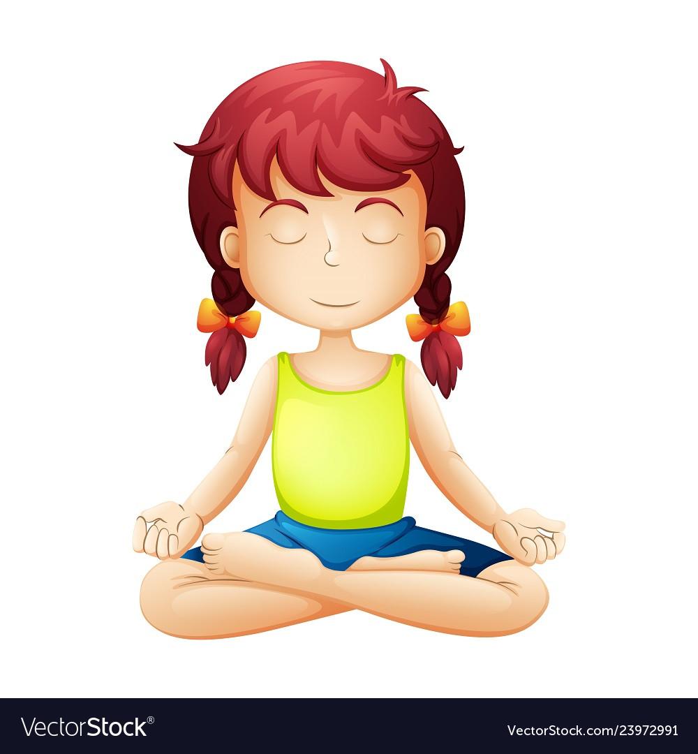 Kids yoga meditation