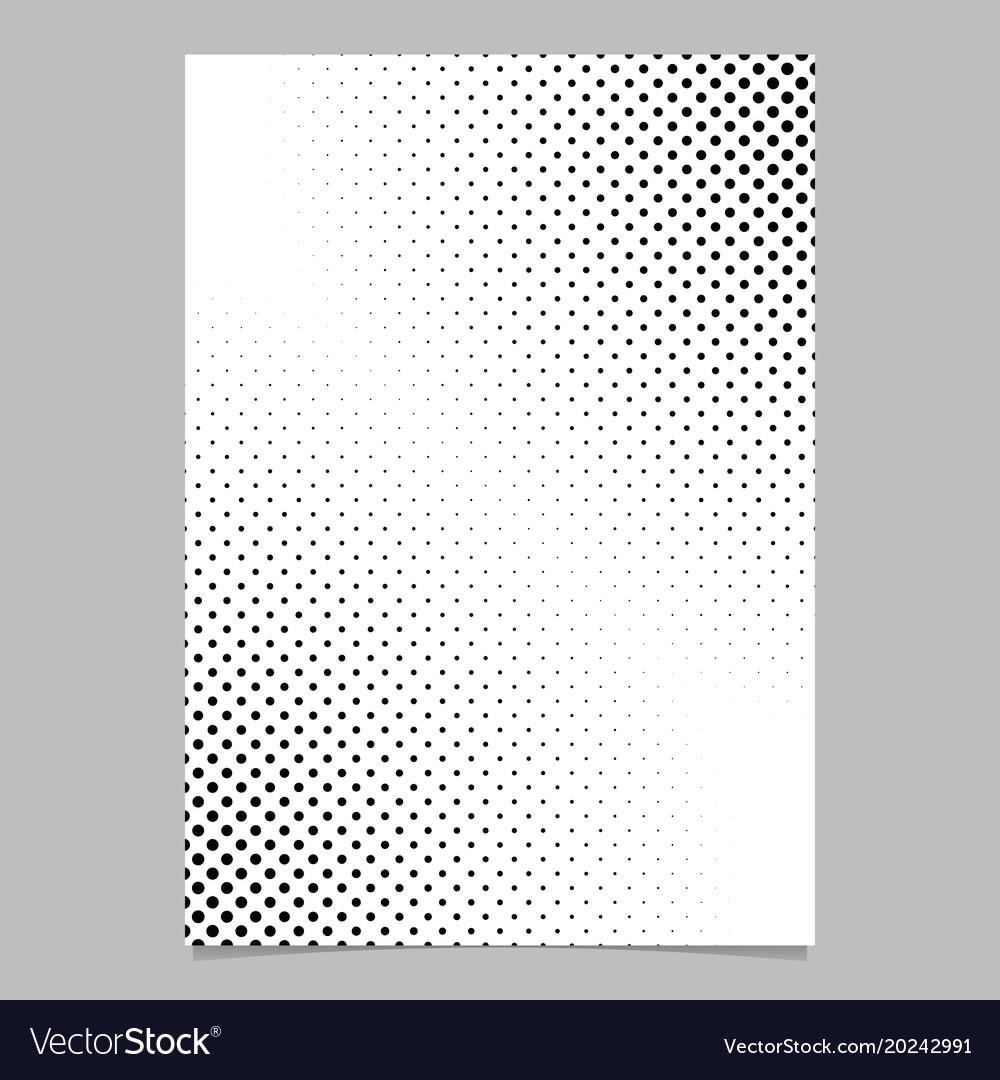 Monochrome abstract halftone dot pattern brochure
