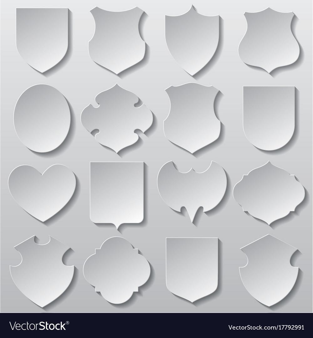 Set of cut paper signs