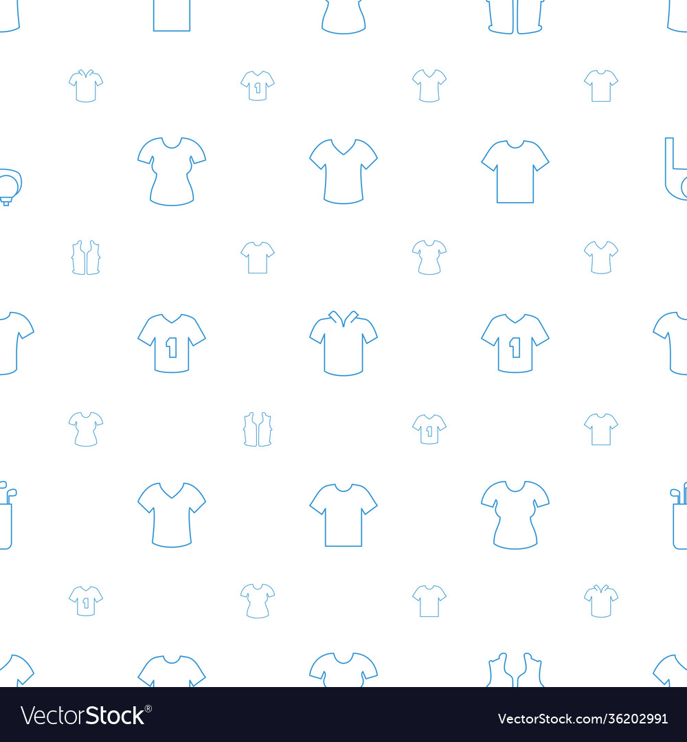 Tee icons pattern seamless white background