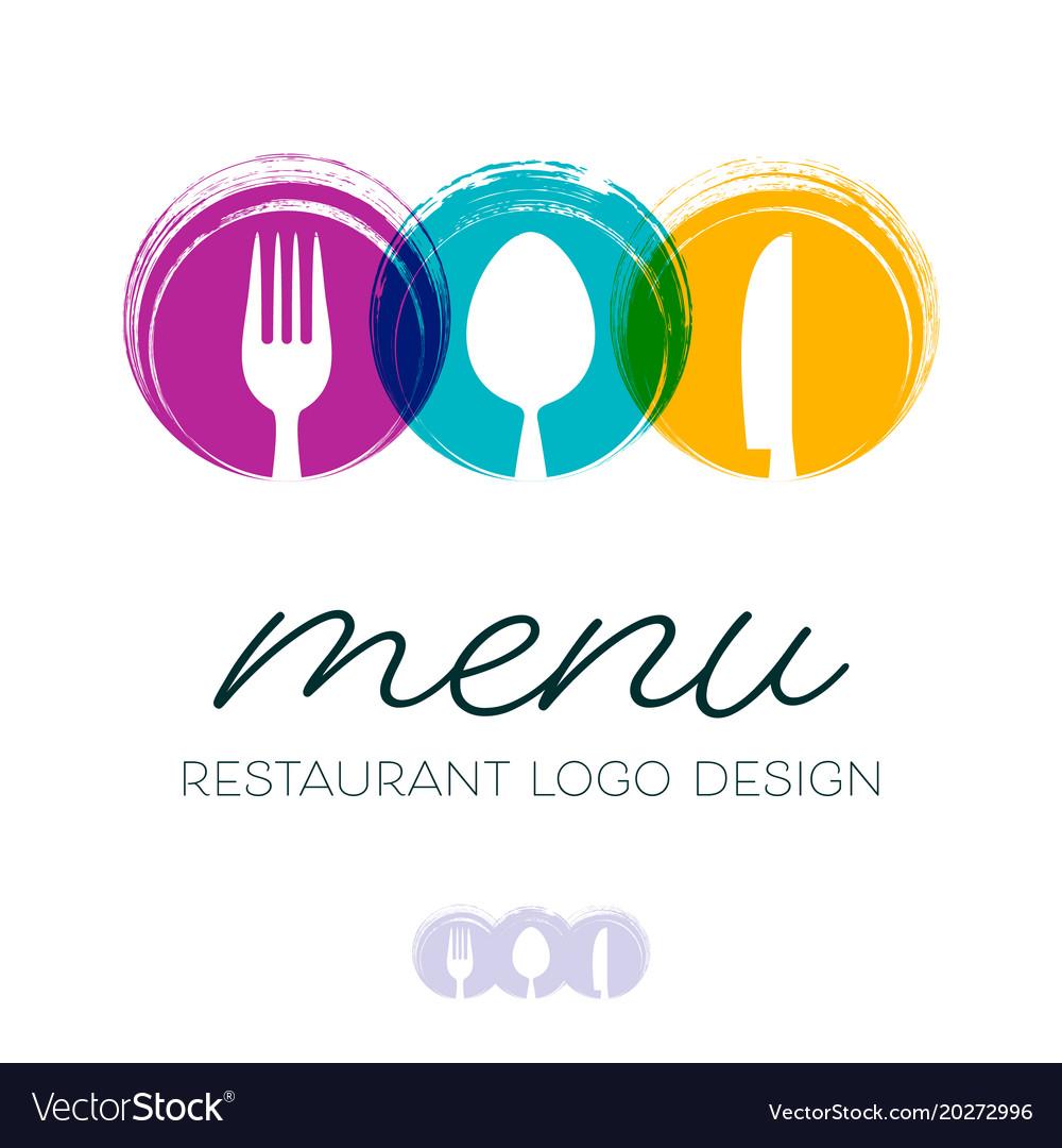Abstract restaurant menu logo design