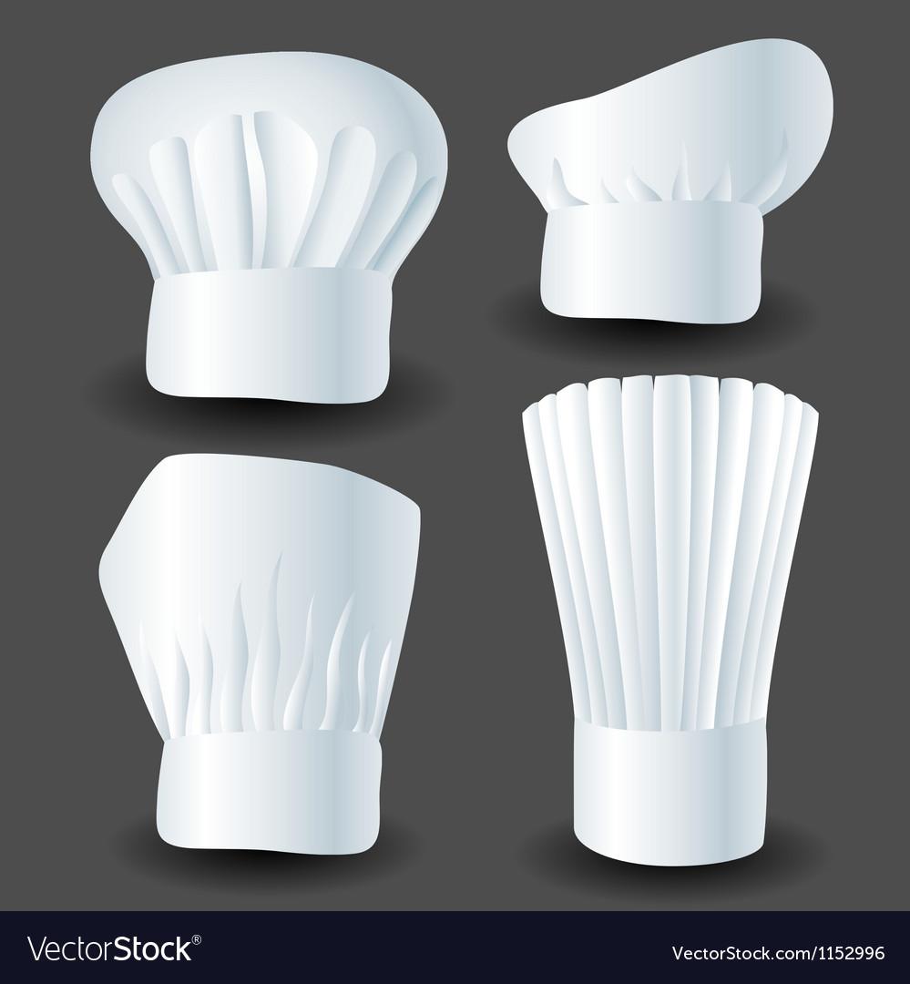 Chef hat set vector image