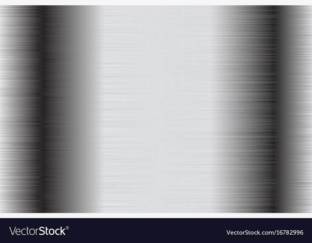 Metal brushed background stainless steel vector image