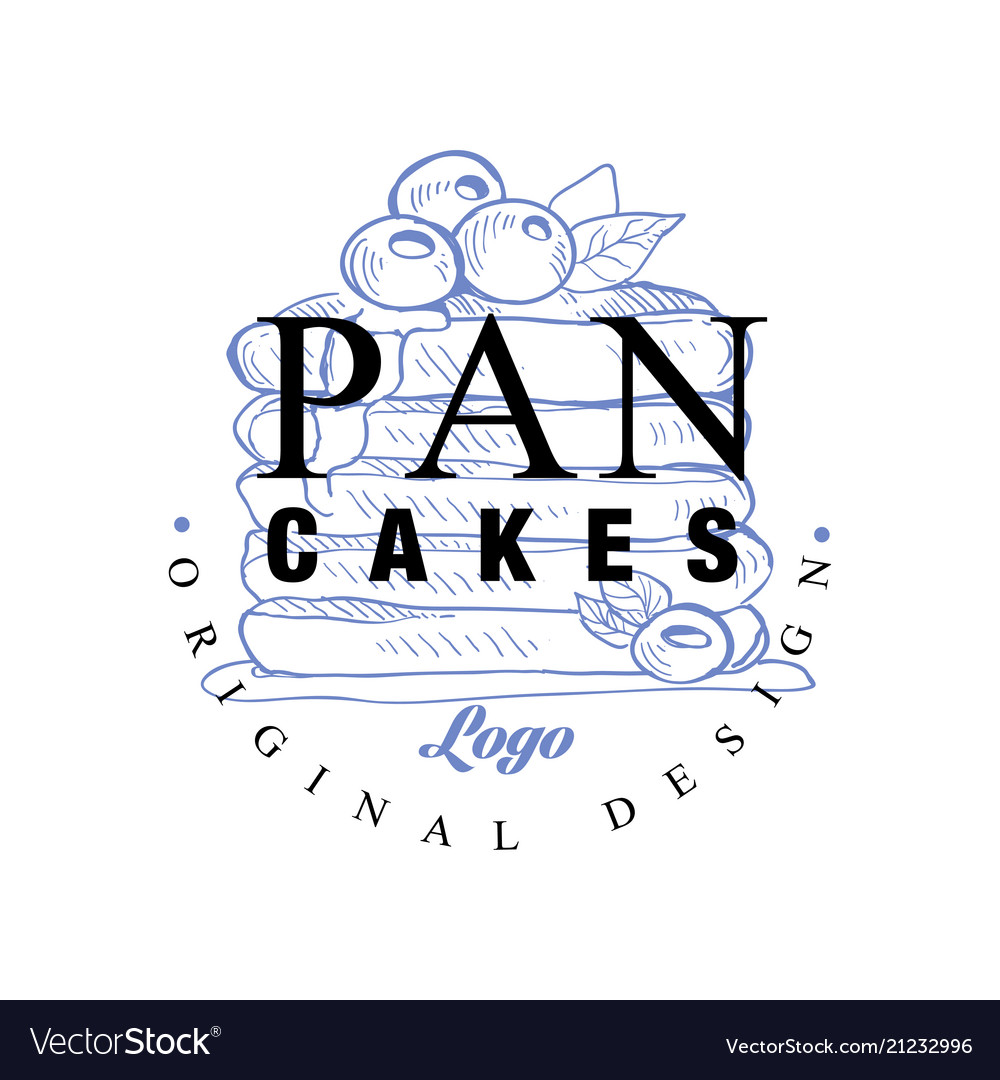 Pancakes logo original design retro emblem for