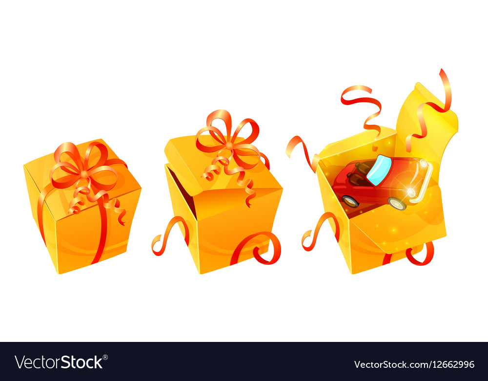 Realistic Luxury Gift Boxes Set vector image