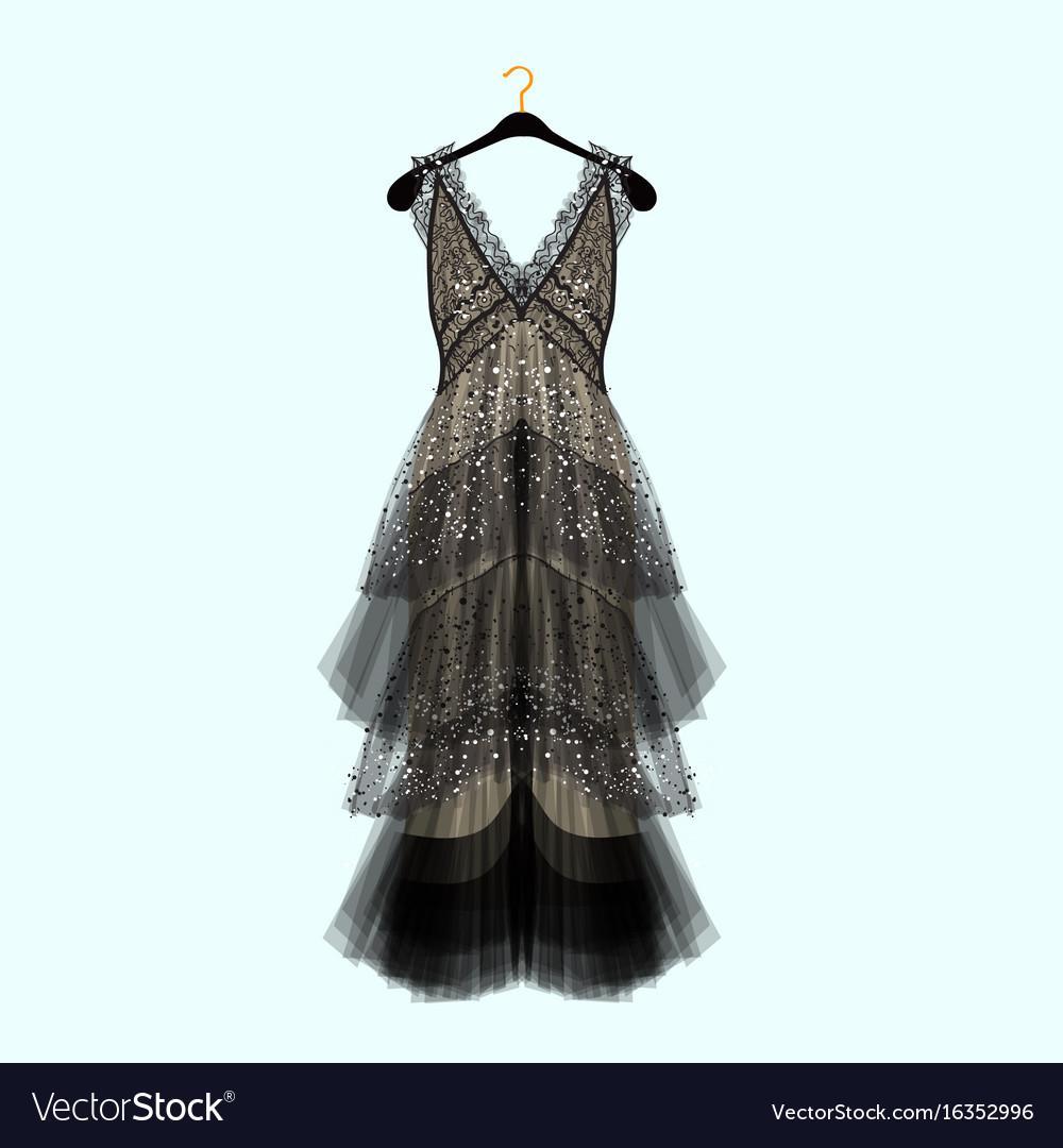Retro style dress with rhinestones