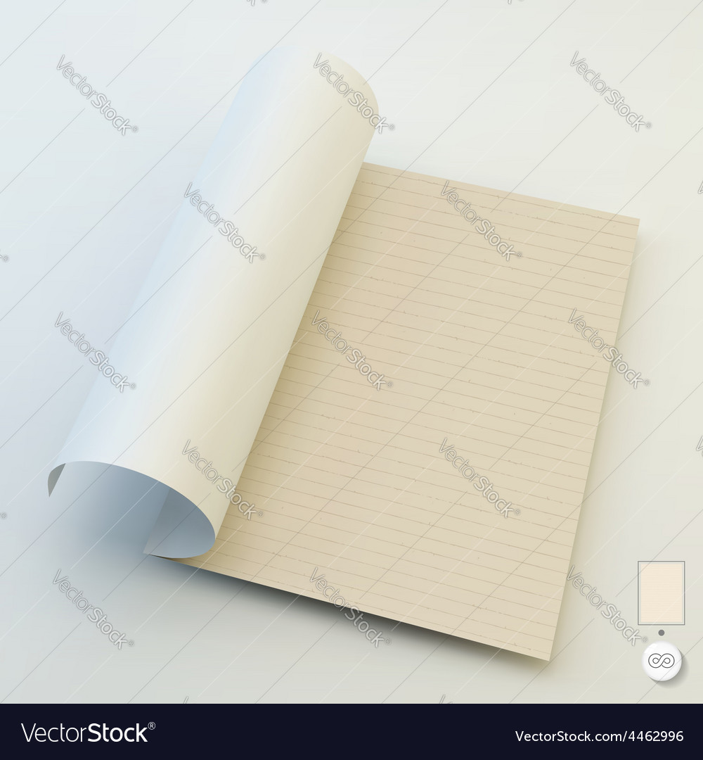 Seamless lined paper 3d