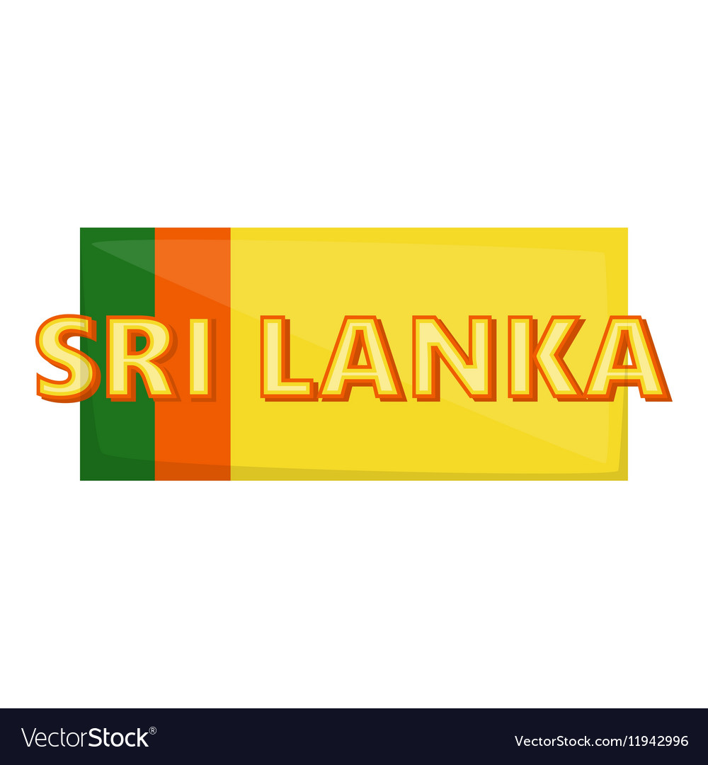 Sri lanka icon cartoon style vector image