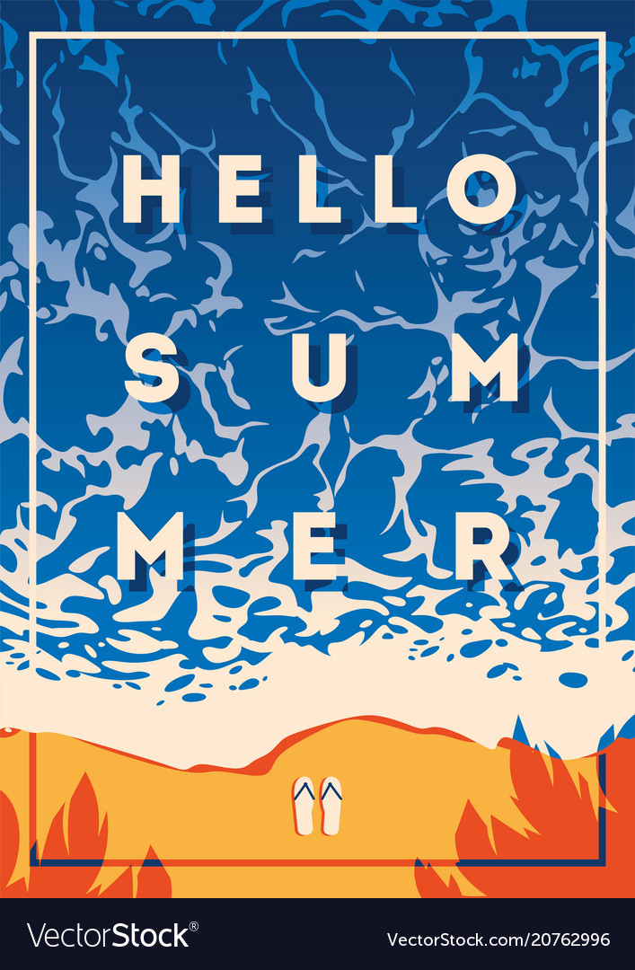 Summer holiday and camp poster