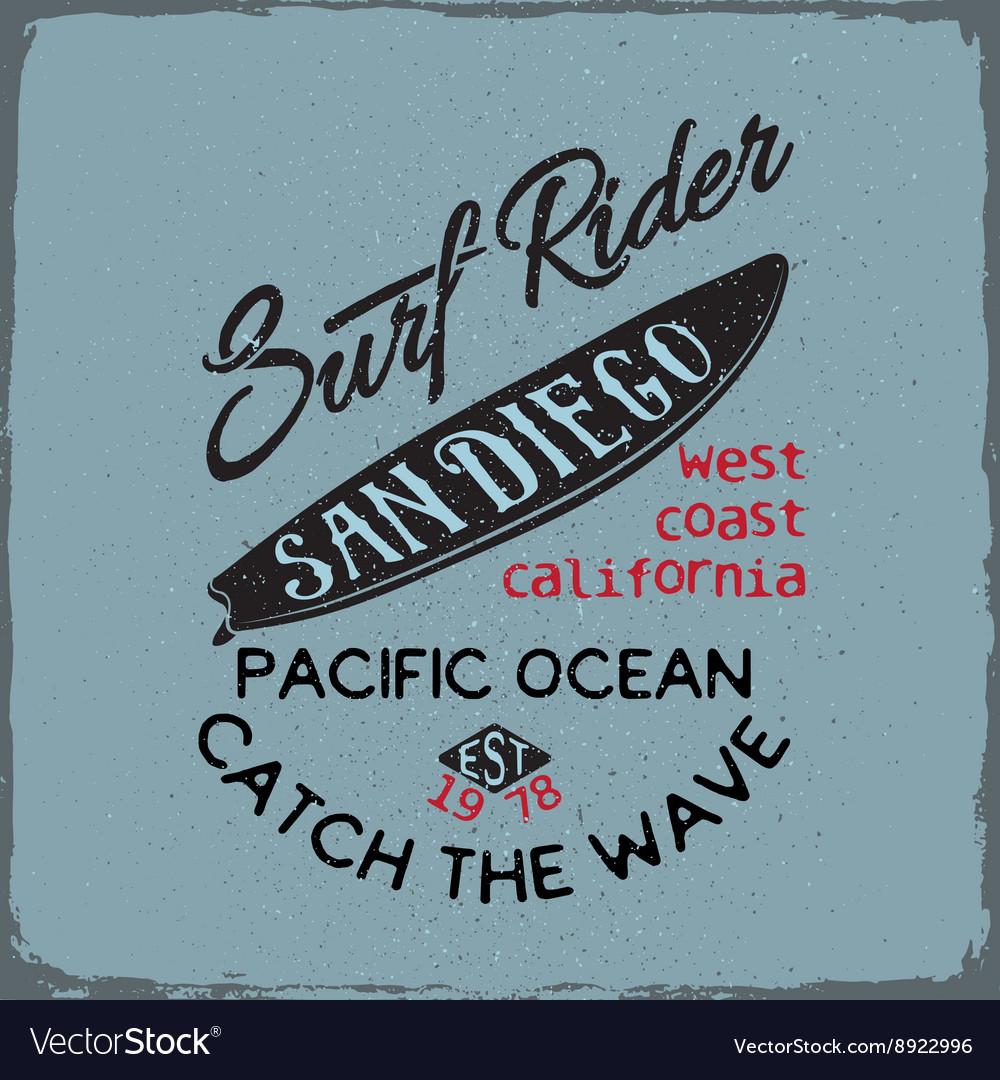 Surfing board vector image