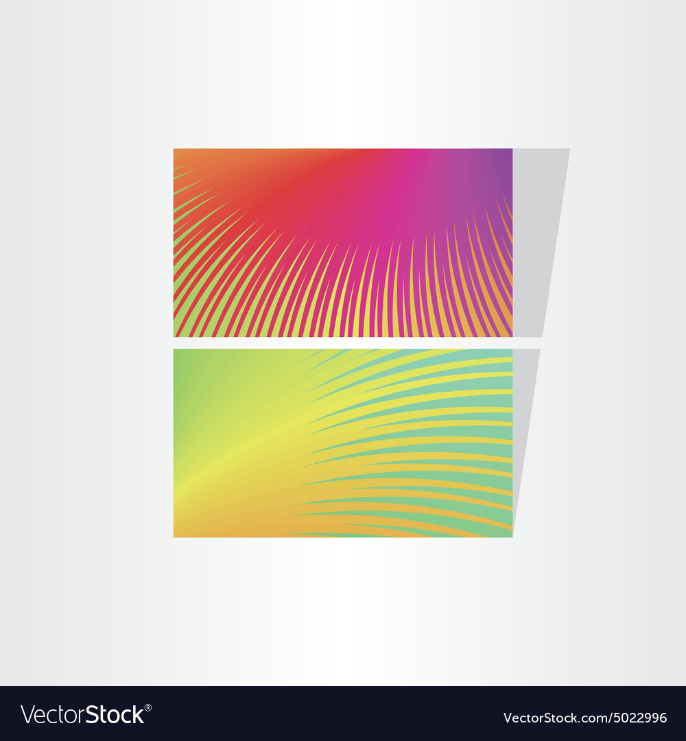 Two fresh color abstract business card templates