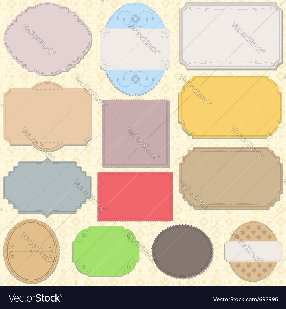 Vintage paper objects vector image