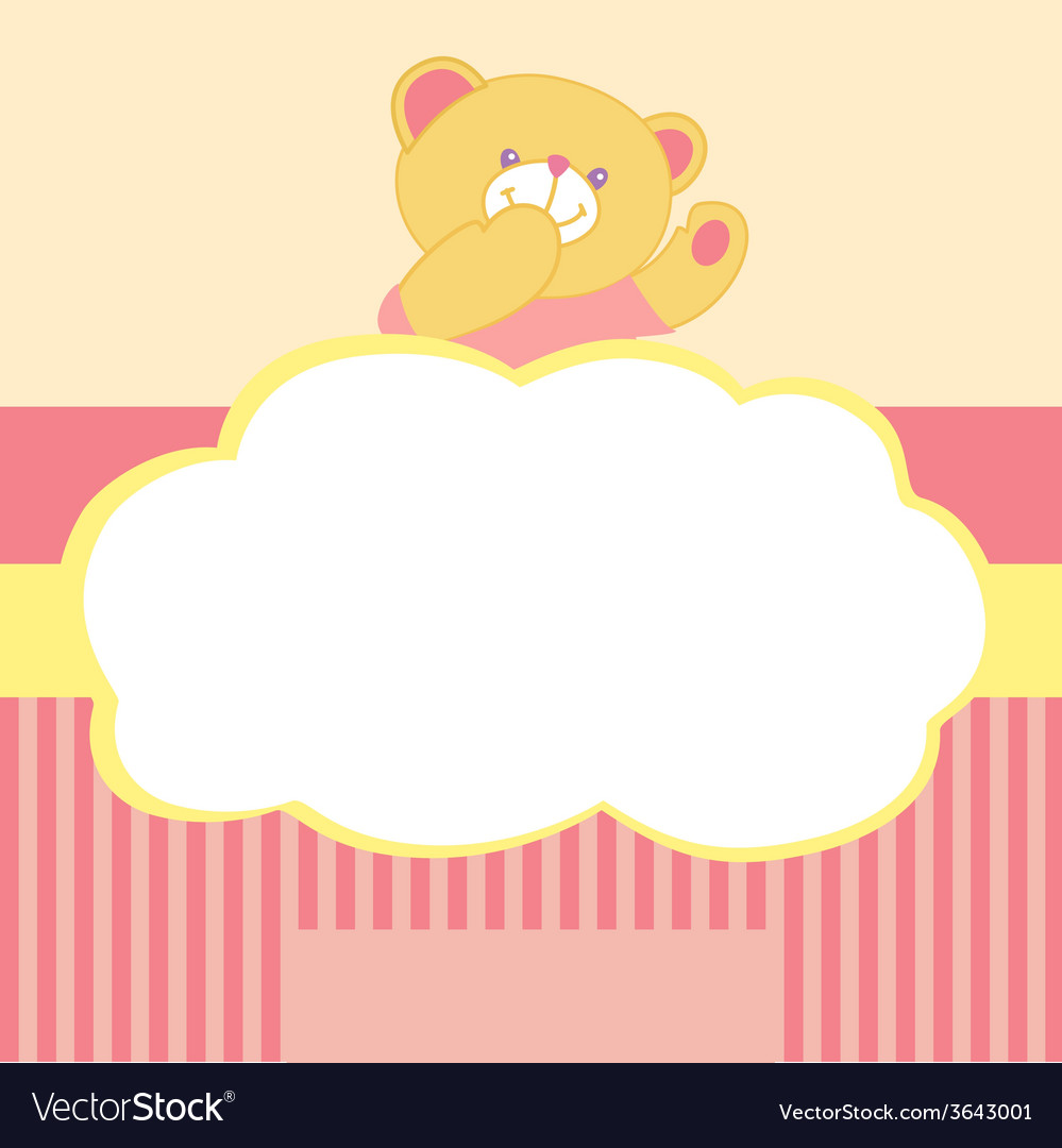 Background with teddy bear Kiss love space for vector image