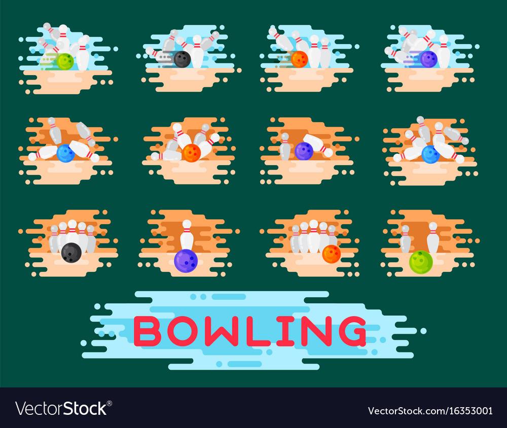 Bowling emblem design template badge item