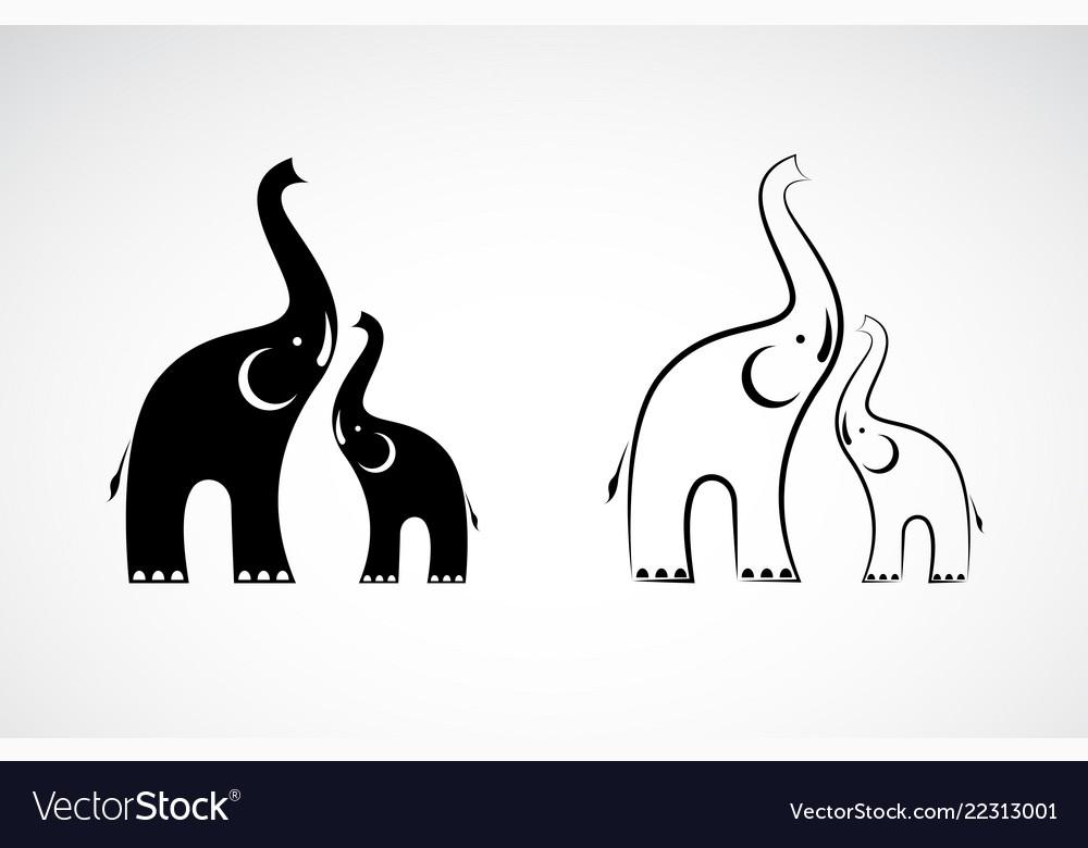 Elephants design on white background wild animals