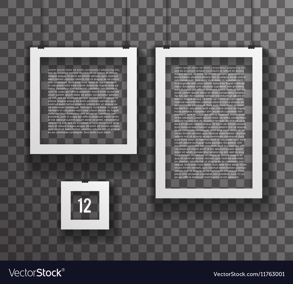 Frames Paper Big Little Realistic Text Poster Icon vector image